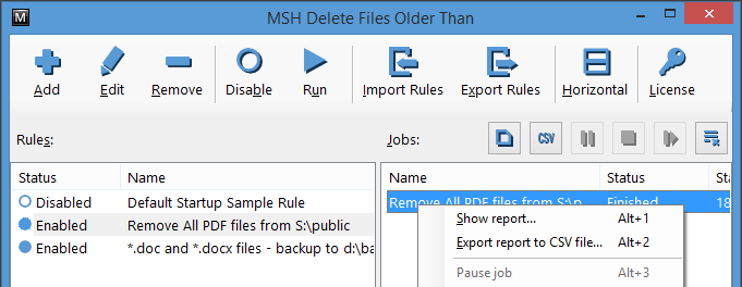 MSH Delete Files Older Than - Remove old files without scripts